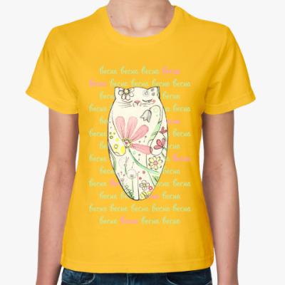 Женская футболка Весна