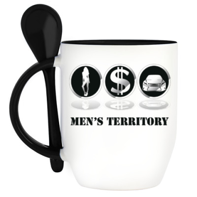 Кружка с ложкой Men's territory