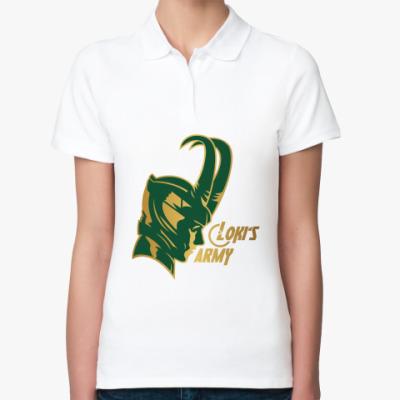 Женская рубашка поло  Мстители Армия Локи