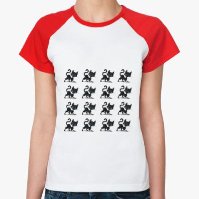 Женская футболка реглан 16 котов
