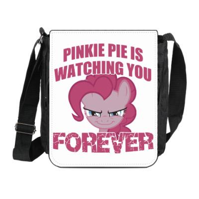 Сумка на плечо (мини-планшет) Пинки Пай наблюдает за тобой