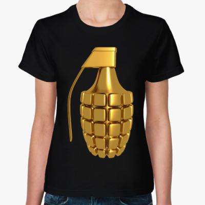 Женская футболка Золотая Граната