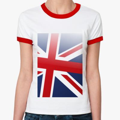 Женская футболка Ringer-T British