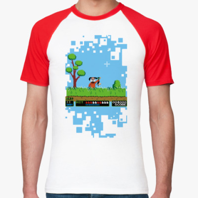Футболка реглан Pixel Duck Hanter