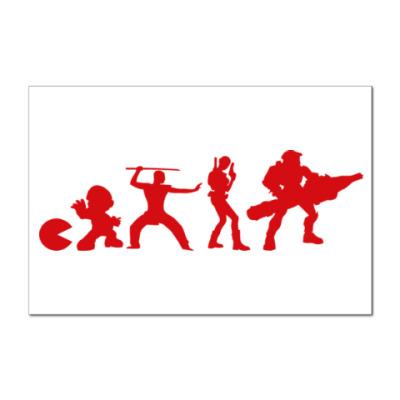 Наклейка (стикер) Эволюция игры