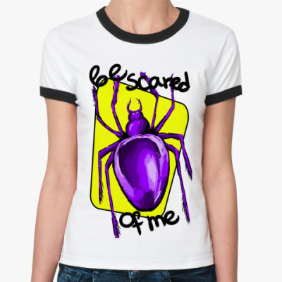 Женская футболка Ringer-T Бойтесь меня!