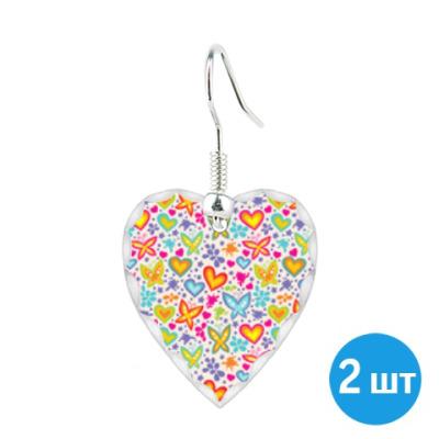 Серьги Серьги 'сердце' (пара)