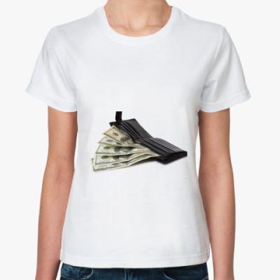 Классическая футболка кошелек с долларами