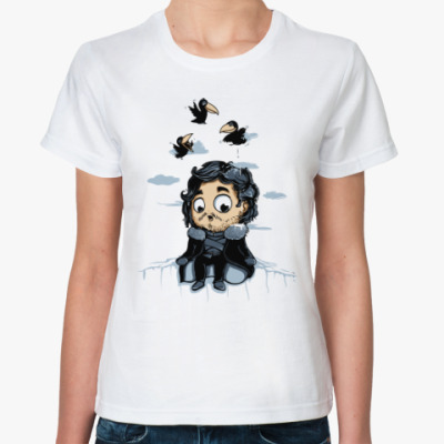 Классическая футболка Джон Сноу (Игра Престолов)