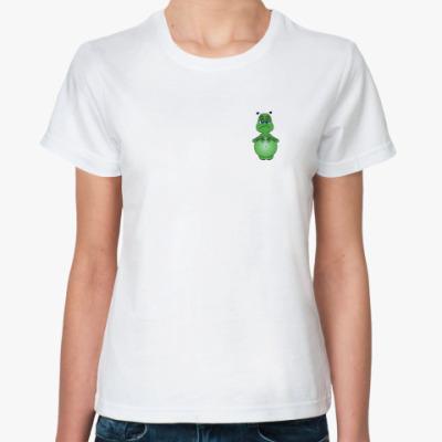 Классическая футболка Зеленый человечек