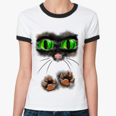 Женская футболка Ringer-T Киса