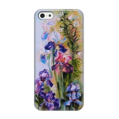 Чехол для iPhone 5/5s Ирисы