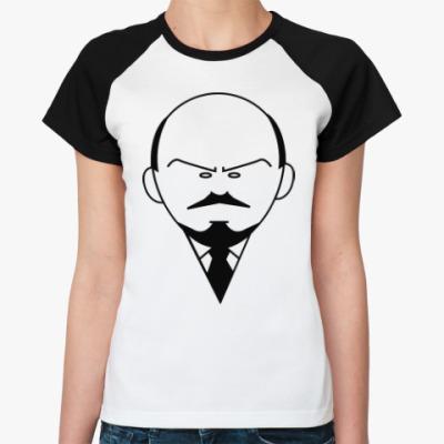 Женская футболка реглан Ленин