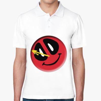 Рубашка поло Deadpool значок Комедианта