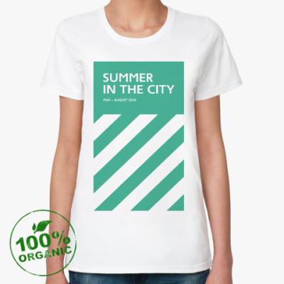 Женская футболка из органик-хлопка Женская футболка Summer in the City