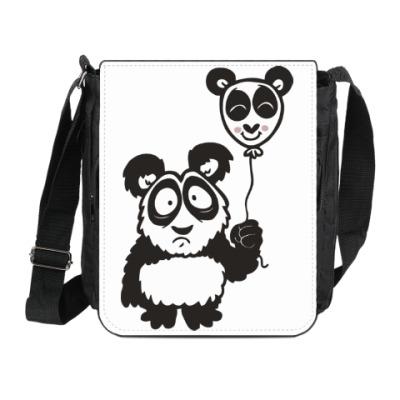 Сумка на плечо (мини-планшет) Панда с шариком