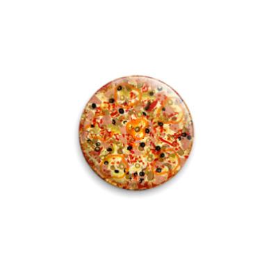 Значок 25мм Пицца