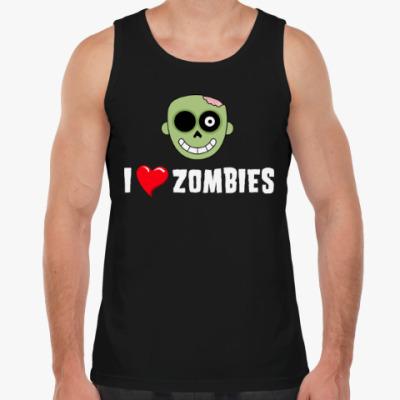 Майка I love zombies