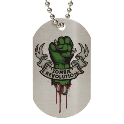 Жетон dog-tag Революция Зомби