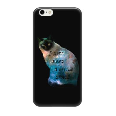 Чехол для iPhone 6/6s Котик космический