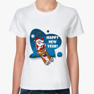 Классическая футболка новый год