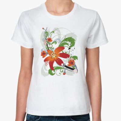 Классическая футболка 'Цветы'