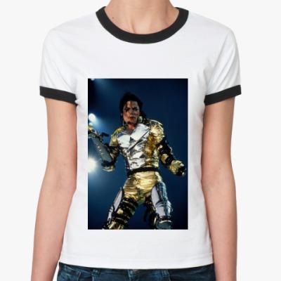 Женская футболка Ringer-T Макйл Джексон