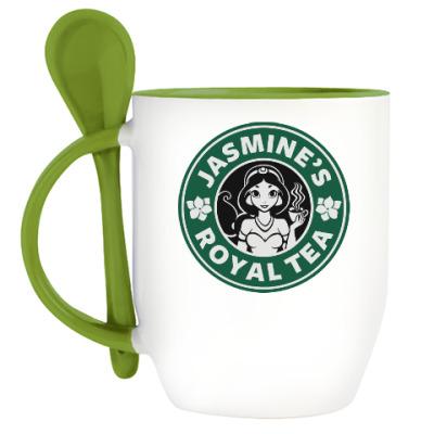 Кружка с ложкой Жасминовый чай
