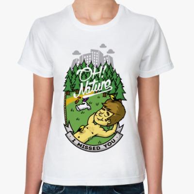 Классическая футболка Oh nature!