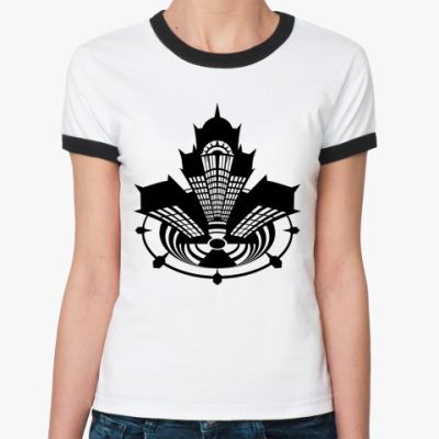 Женская футболка Ringer-T Meltdown #01