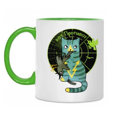 Кружка кот Противот  из серии 'Military cats'
