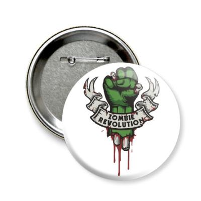 Значок 58мм Революция Зомби
