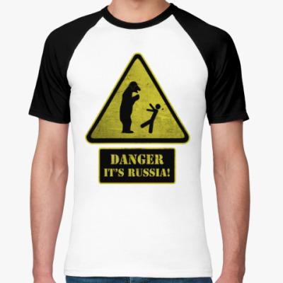 Футболка реглан Danger It's Russia