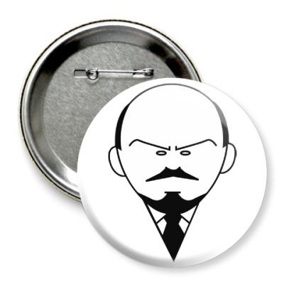 Значок 75мм Ленин