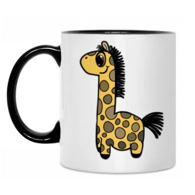 Кружка Жирафик-дет.Кружка бел/чёрн