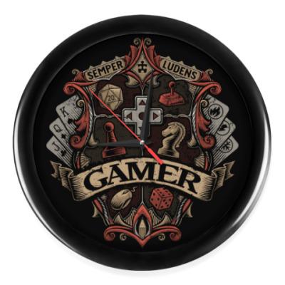 Настенные часы Герб Геймера Gamer