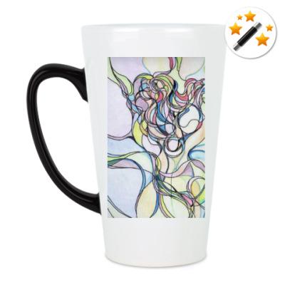 Кружка-хамелеон Абстрактный рисунок