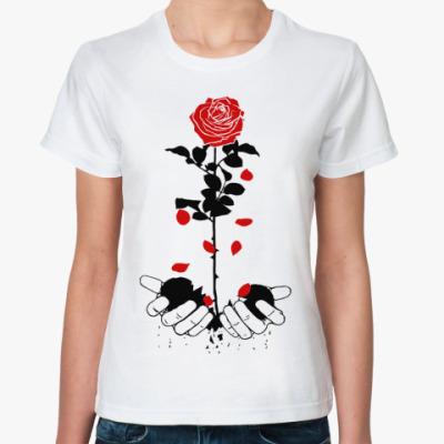 Классическая футболка heart rose