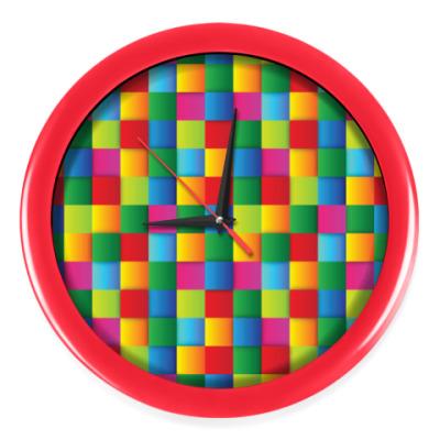 Настенные часы Яркие квадраты