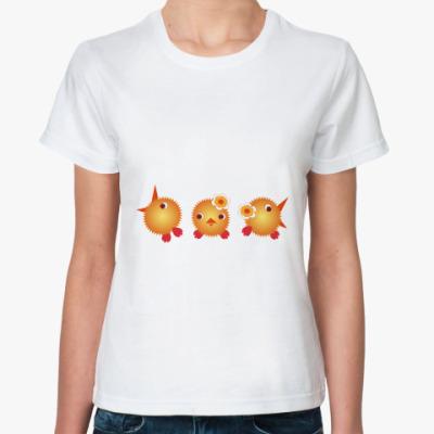 Классическая футболка   Цыплята