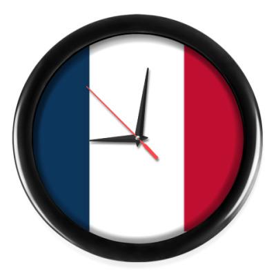 Настенные часы флаг Франции