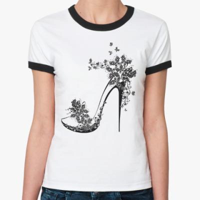 Женская футболка Ringer-T Туфелька