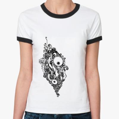Женская футболка Ringer-T   узор