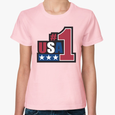 Женская футболка USA 1