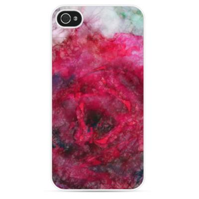 Чехол для iPhone Алая роза