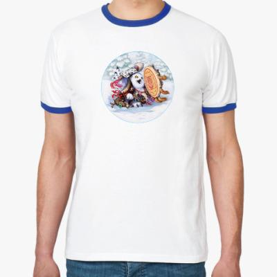Футболка Ringer-T Сова - сибирский шаман
