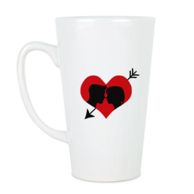 Чашка Латте Сердце хочет любви