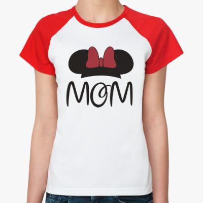 Женская футболка реглан Mom