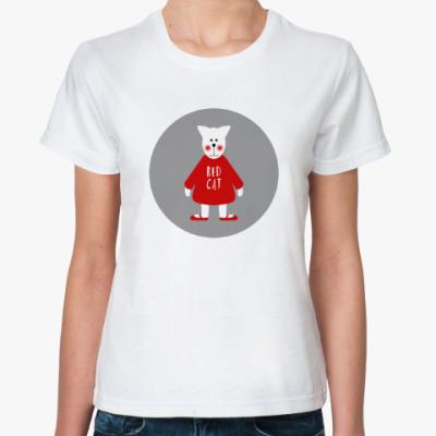 Классическая футболка Red Cat