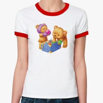 Женская футболка Ringer-T С новым плюшем!